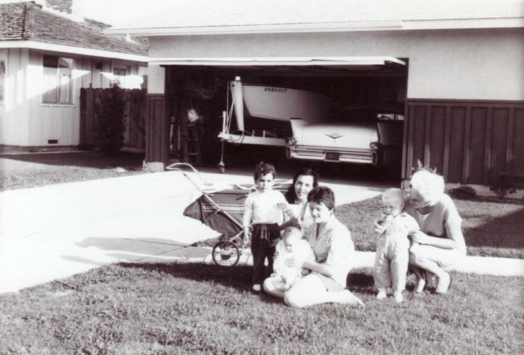 R to L: Nana with Curt, Louis holding Mrs. Wack's daughter Mimi, Mrs. Wack and Son Johnny.  Mrs Wack is Curts Godmother